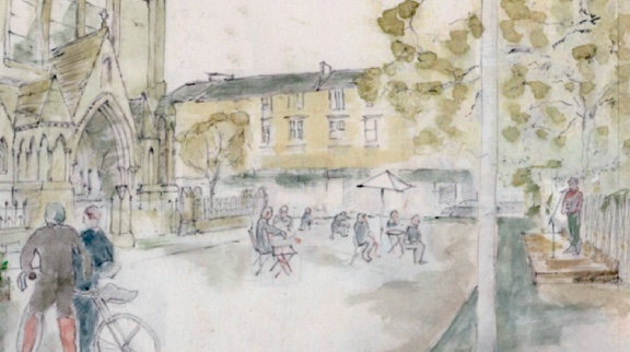 artists impression outdoor space