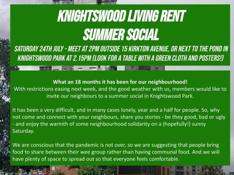 knightswood living rent summer social