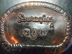 DURAGLAS mark on base of medicine bottle
