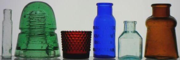 11981c508d03 Small glass medicine vial  Telegraph insulator  Hobnail votive candle  holder  Bromo-Seltzer