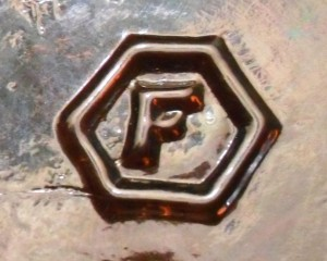 F in Hexagon - Fairmount Glass