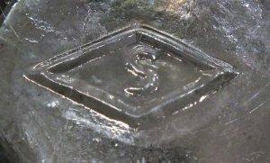 """S in a diamond"" on base of 1920s era Orange Crush soda bottle, Southern Glass Company, Vernon, CA. (photo courtesy Tom K.)"