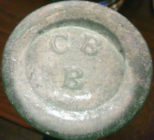 """""""C B B"""" mark on another example of these Chow Chow jars."""
