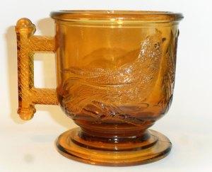 No. 3 size EASTLAKE mug in orange amber.