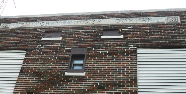 Looking along the top of the Hemingray business office building, built in 1927. Photo taken September 4, 2011 at Muncie, Indiana.
