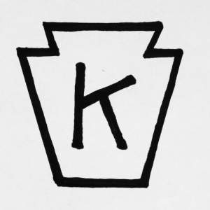 Knox Glass Bottle Company - K in a keystone logo.