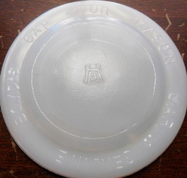 Hazel-Atlas Glass Company disc - white milk glass.