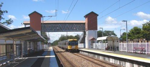 Railway Station Train Arrives