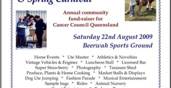 Beerwah Charity Sports and Spring Carnival on the 22nd August 2009
