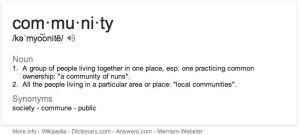 Community Definition on iMac