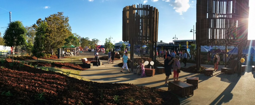 New Water Towers Sculpture at Beerwah Street Party
