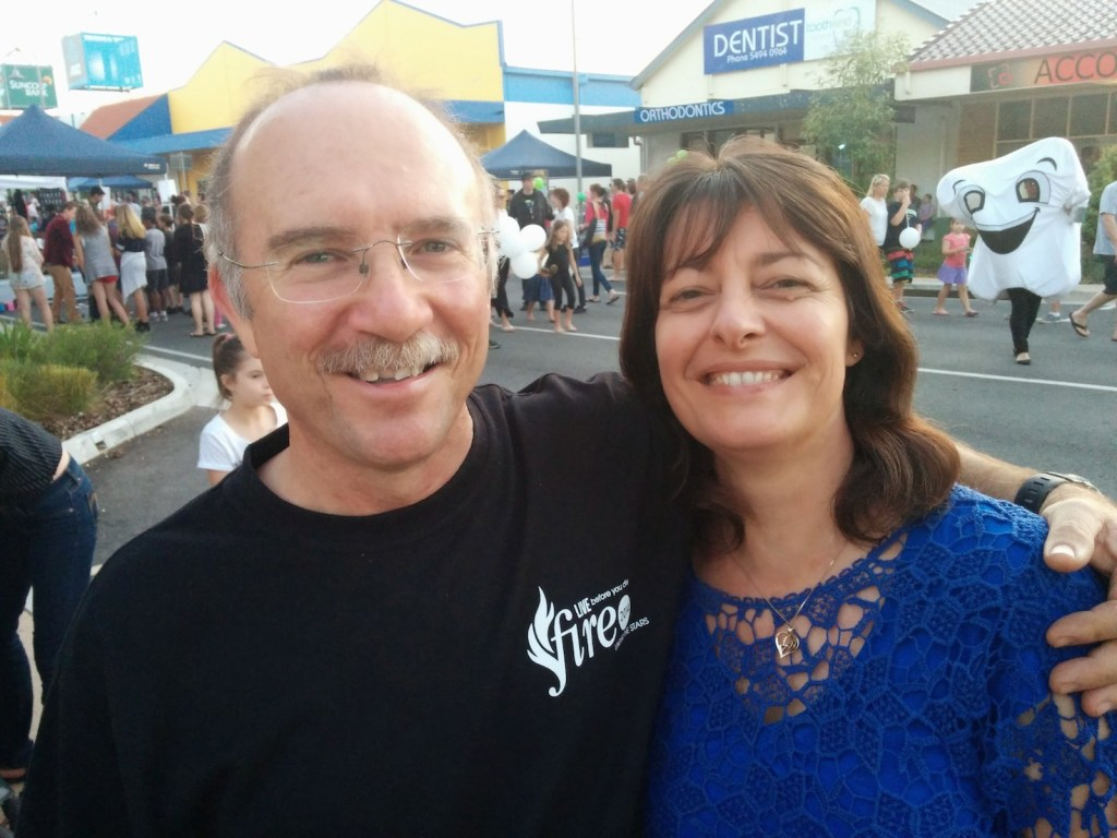 The Troy and Sandra Brahim at the Beerwah Street Party 2014
