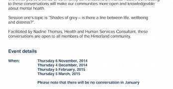 Invitation: Community conversations about Mental Health