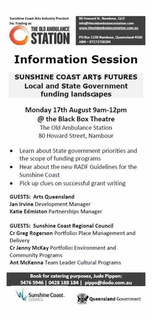 Sunshine Coast ART Funding and Futures August 2015
