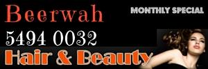 Ad Beerwah Hair and Beauty 300x100 Phone 5494 0032