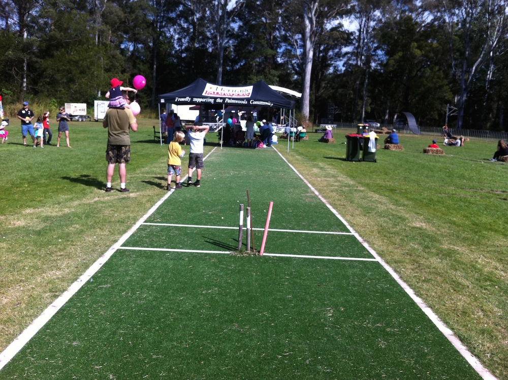 The Mooloolah Cricket Pitch at Moofest 2015