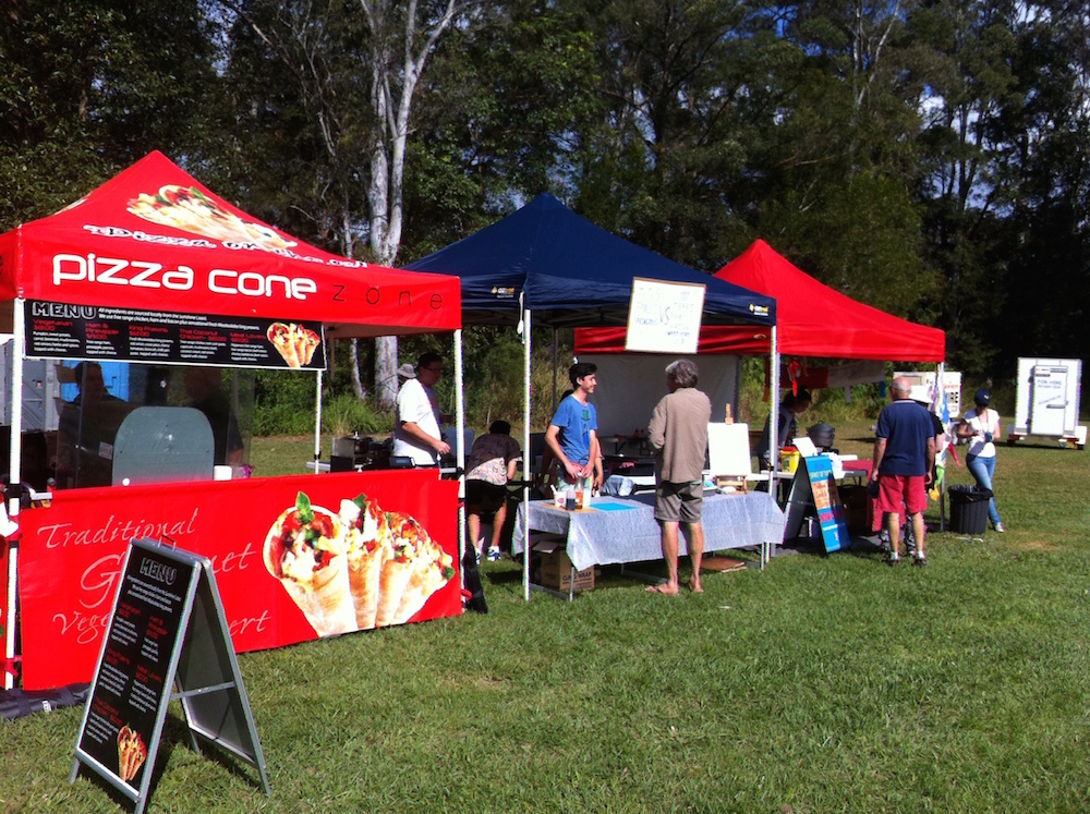 The Pizza Cone Tent at Moofest