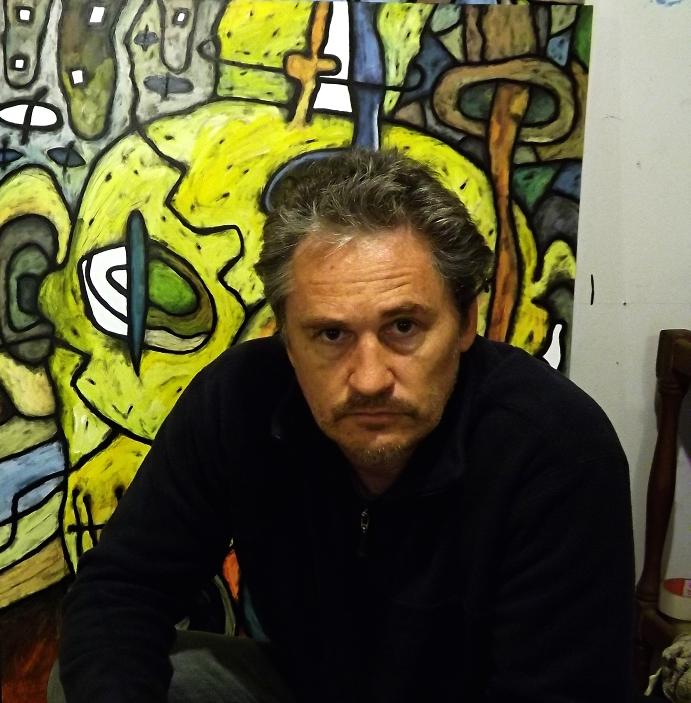 David Howard at his Art Studio in Beerwah