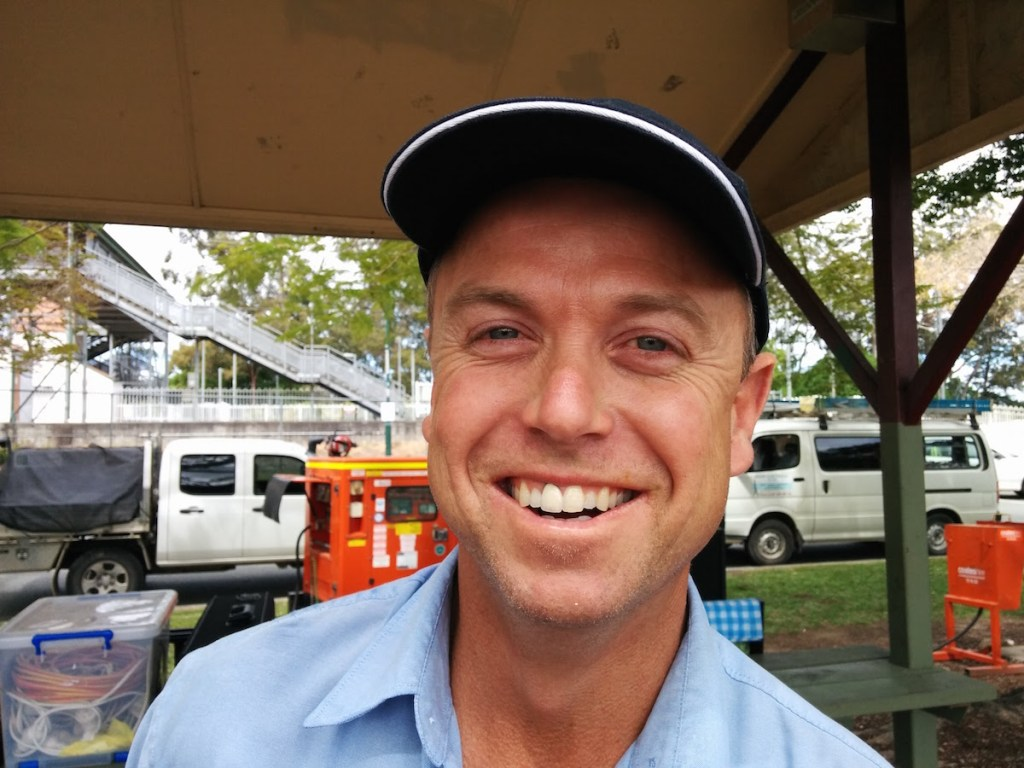 Greg Small from GSE Greg Small Electrical - Beerwahs Favourite Electrician Beerwah Street Party 2015