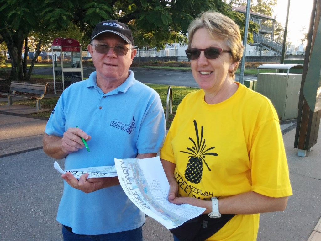 Judy Tomlinson the Chairlady and President of the Celebrate Beerwah Street Party 2015