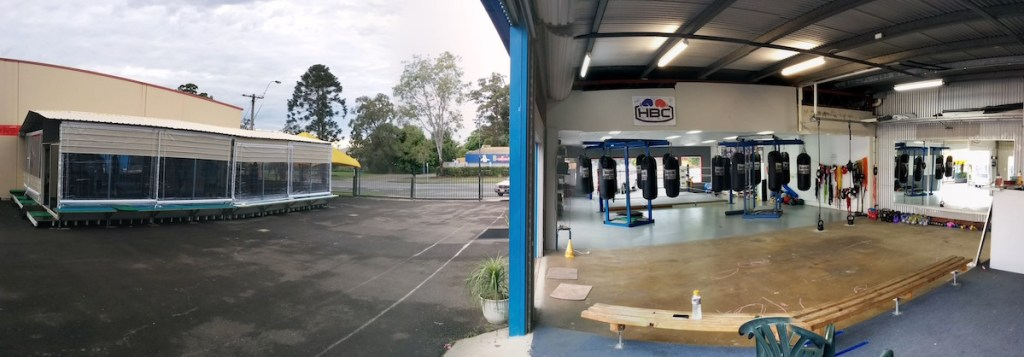 Hinterland Boxing Club Court Yard and Gym