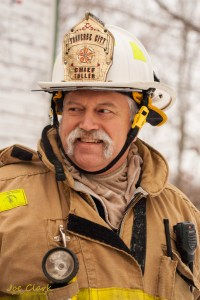 Travers City Fire Cheif commercial portrait. By Joe Clark.