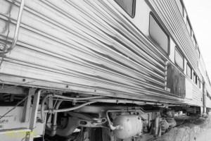 Train Cars in Caddillac. By Joe Clark.