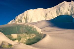 Leelanau Ice Caves, Under The Ice. By Joe Clark.