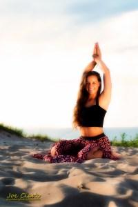 Kara B. Yoga portraits in Sleeping Bear Dunes. By Joe Clark.