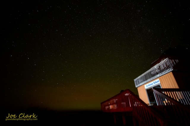 Stars over Leelanau School's observatory by Joe Clark glasslakesphotography.com