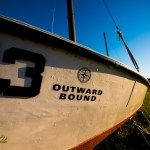 Hurricane Island Outward Bound boat sits at a museum in Rockland, by Joe Clark www.glasslakesphotography.com