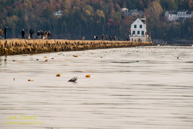 A near mile long breakwall in Rockland, Me by Joe Clark www.glasslakesphotography.com