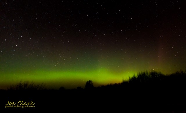 The northern lights east of Cross Villiage.