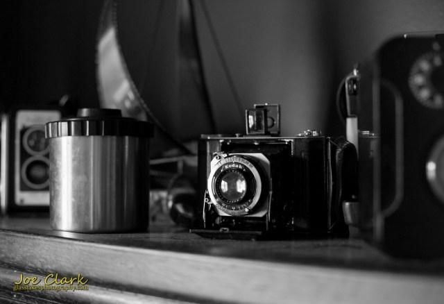 A Kodak film camera, working