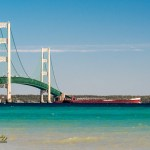 Great Lakes Shipping Mackinaw Bridge photographer Joe Clark Mackinaw City