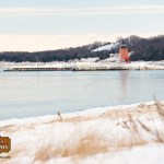 Charlevoix Lighthouse in Winter photographer Joe Clark