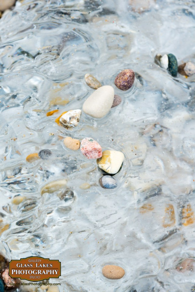 Frozen stone trail Charlevoix beach photographer Joe Clark