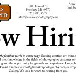 Now Hiring at Petoskeys only fine art photography gallery