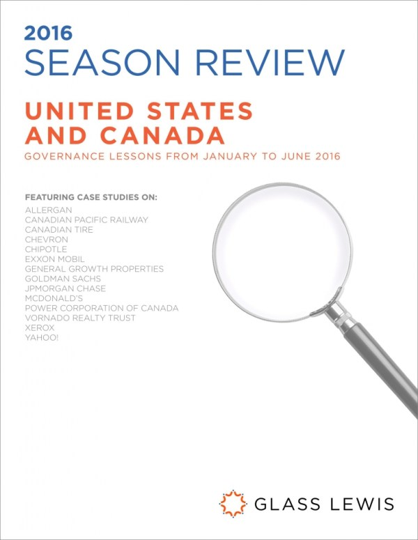 2016 North America Proxy Season Review - Glass Lewis