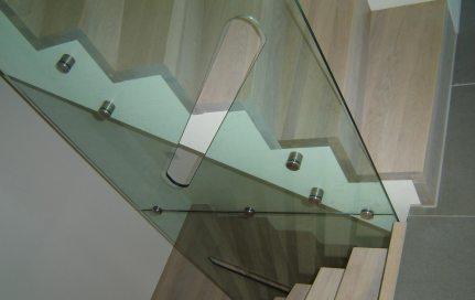 Glassrekkverk enebolig Sola
