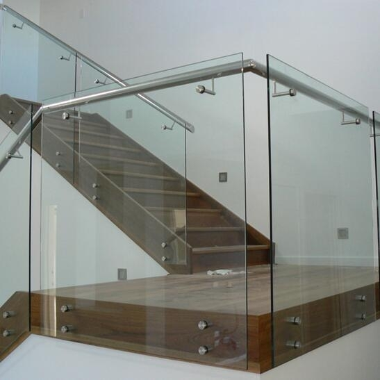 10Mm Clear Tempered Glass Balustrade Manufacturer China 10Mm | Glass Balustrade With Wooden Handrail | Contemporary | Glass Panel | Interior | Guardrail | Atrium