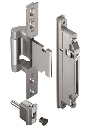 "Elegant aluminium main doors with the concealed Roto ""Solid C 7.140"" door hinge"