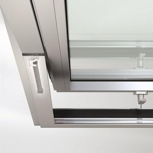 Schüco horizontal and vertical pivot vents