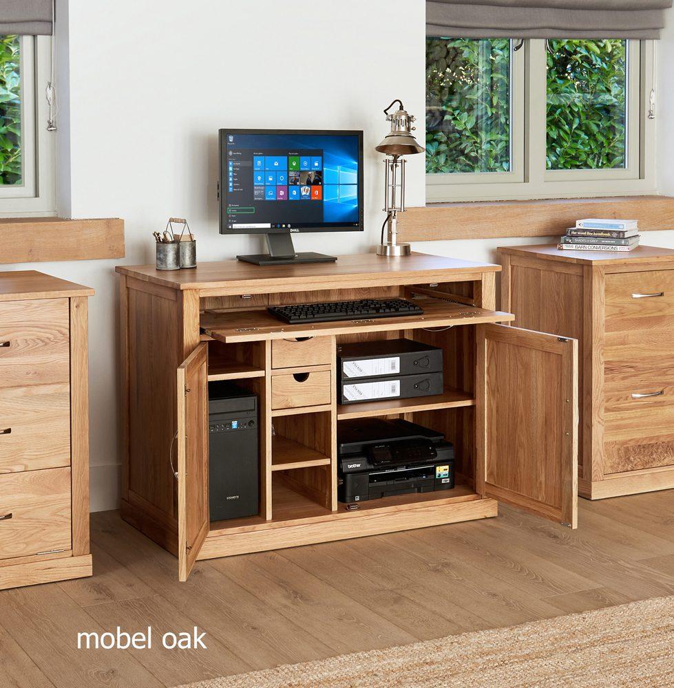 Mobel Oak Hidden Home Office - Glasstone Furniture