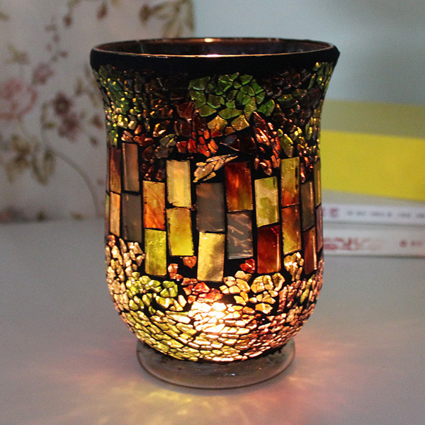 Sales Promotion Mosaic Candle Holderred Candle Holder