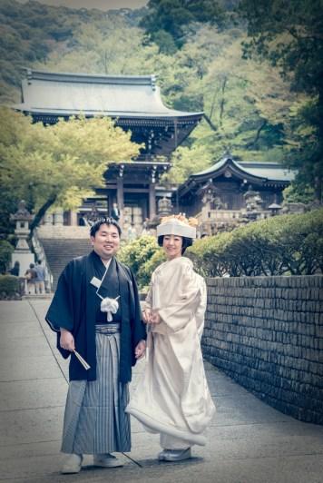 伊奈波神社での新郎新婦ツーショット