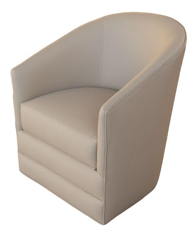 GL 25BL Swivel Barrel Chair With Storage Glastop Inc