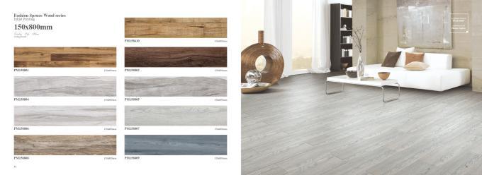 3d inkjet wide plank wood look porcelain tile like natural color solid flooring