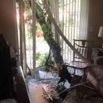 Wind Damage Living Room