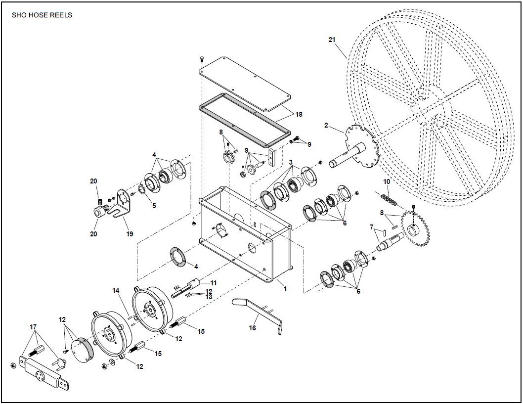 Gleason Sho Series Electric Hose Reels Replacement Parts
